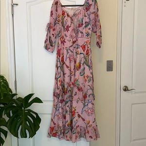 Banjanan pink floral dress